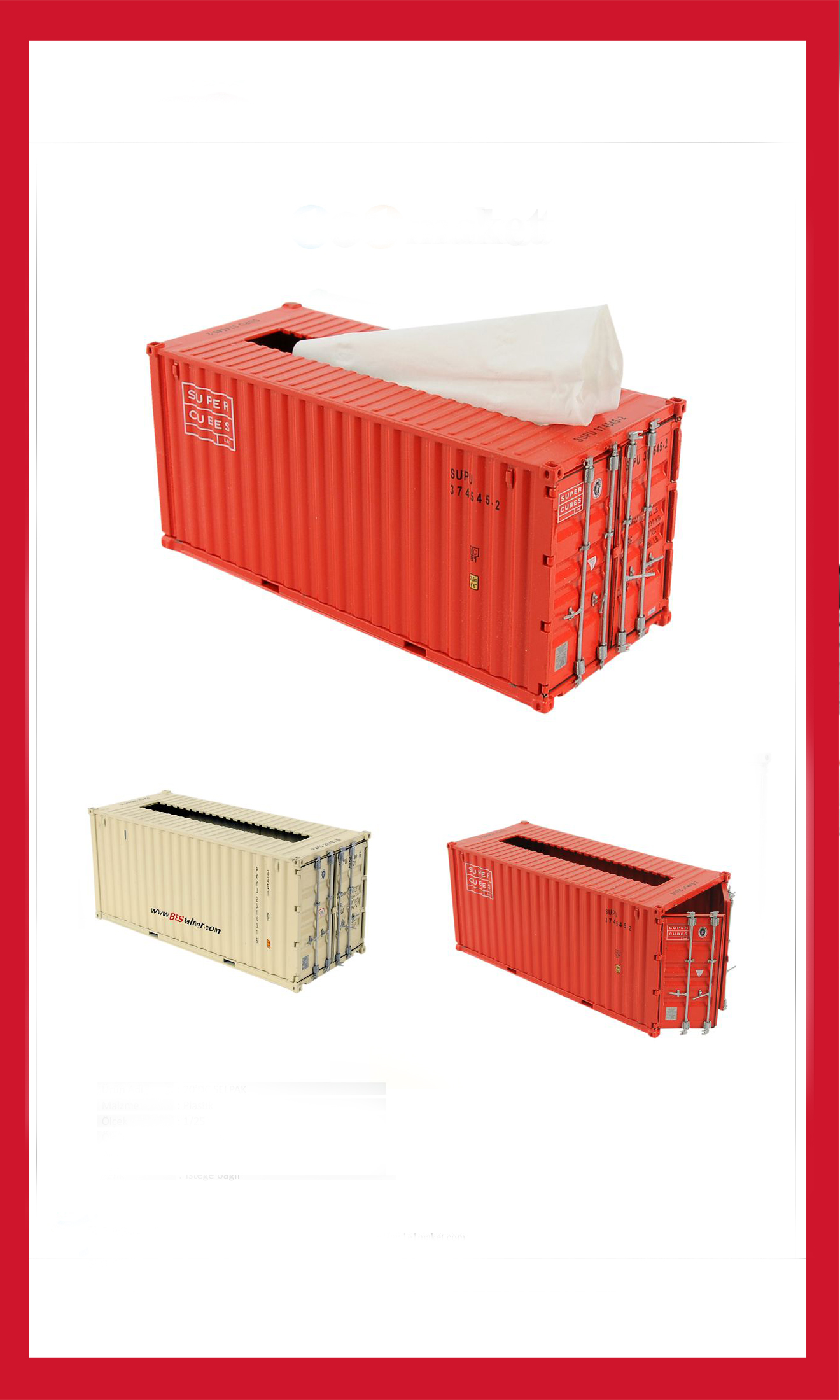Container - Paper Towels - Iron